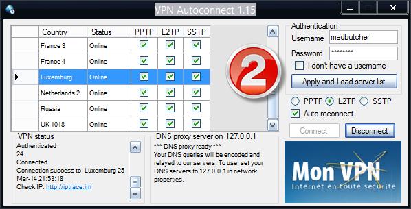 connexion VPN automatique