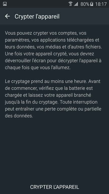 chiffrement android
