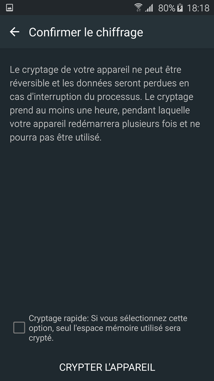 crypter son android