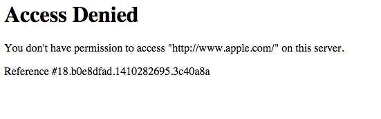 erreur acces denied utilisant Tor