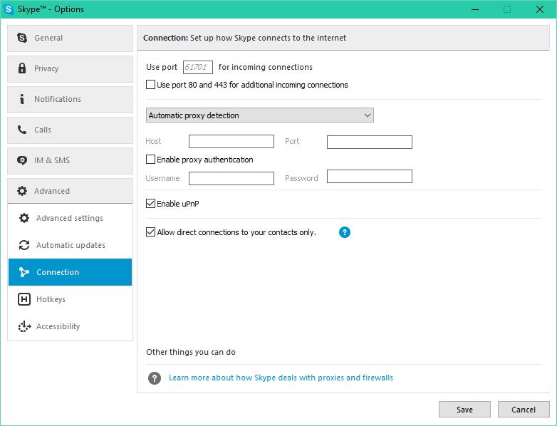 skype avec IP cachee