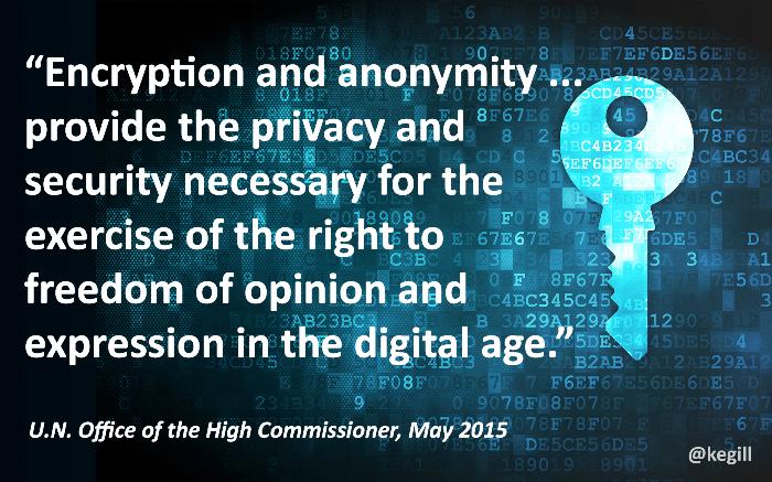 ONU droit chiffrement cryptage