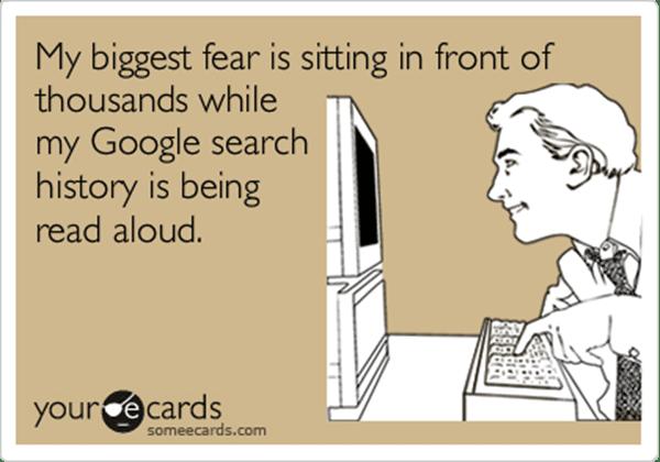 historique des recherches google