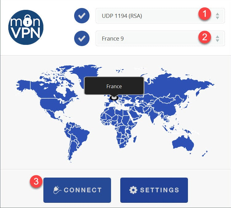 install monVPN Connect for Mac OS 5