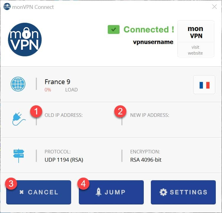 installer monVPN Connect pour Windows 7