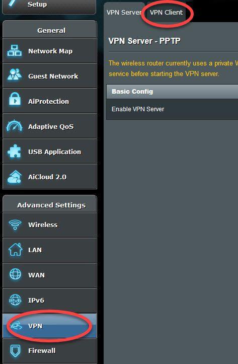 configurer un vpn sur routeur asus