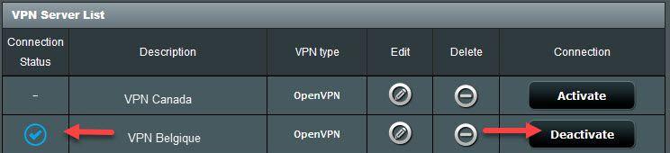vpn connexion sur routeur