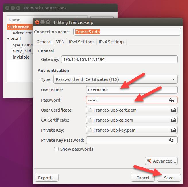 openvpn client ubuntu configuration