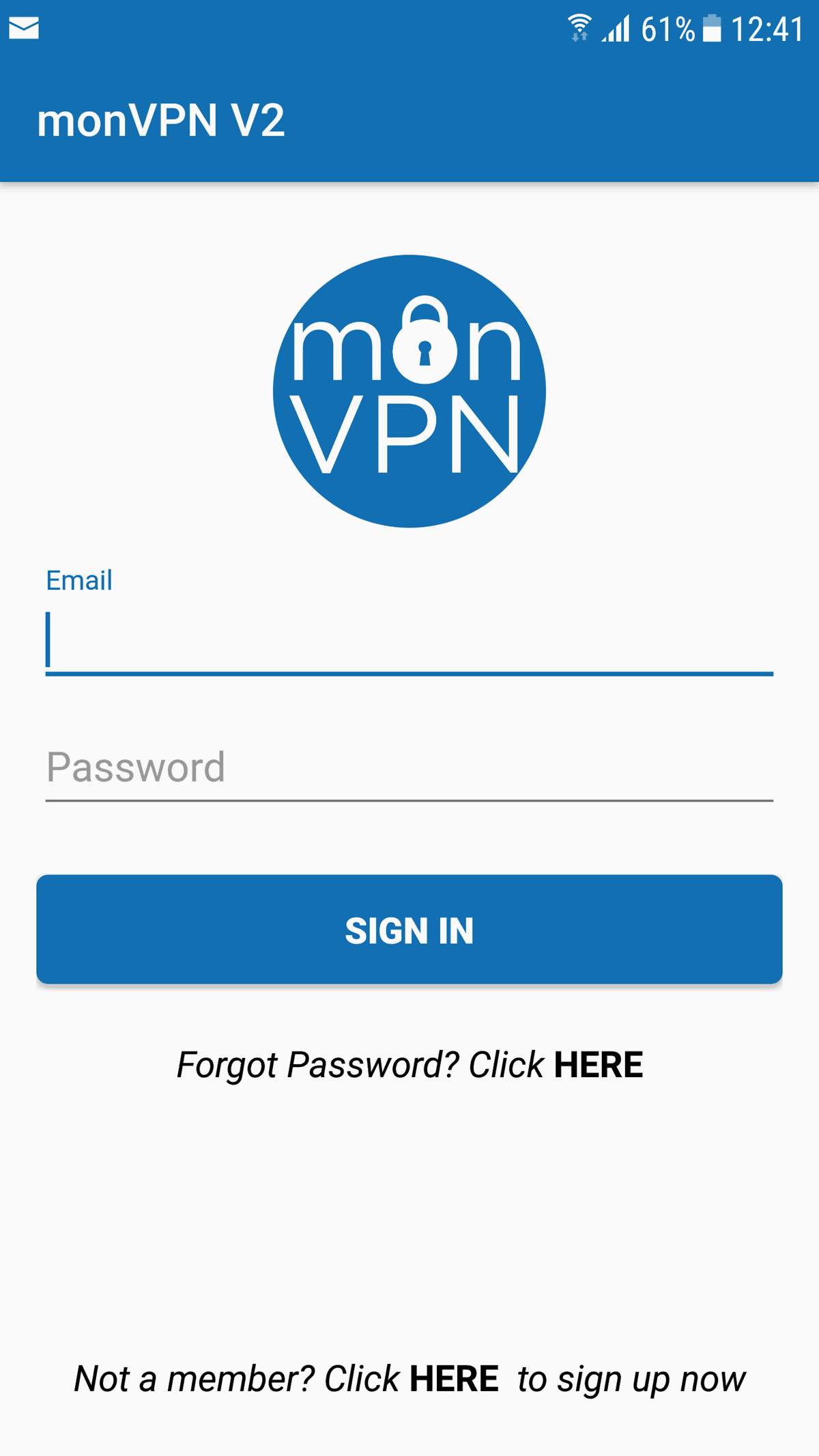 installation monvpn V2 Android