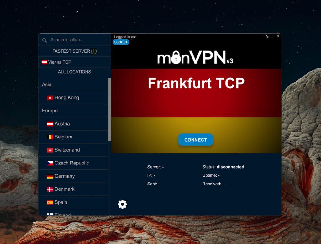 monvpn v3 client VPN for Mac