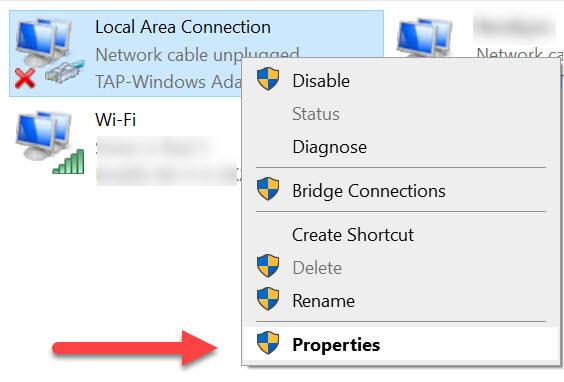 partage adaptateur windows vpn